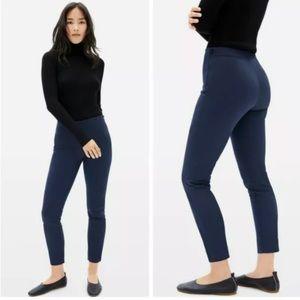 Everlane high rise skinny side zip blue pant 6